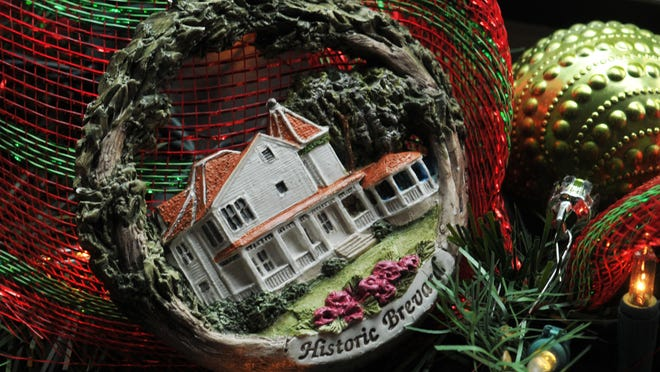 A prototype of Zonta's latest ornament addition, which shows Green Gables, an 1896 Queen Anne-style home at the north end of historic Riverview Drive in Melbourne that needs restoring.