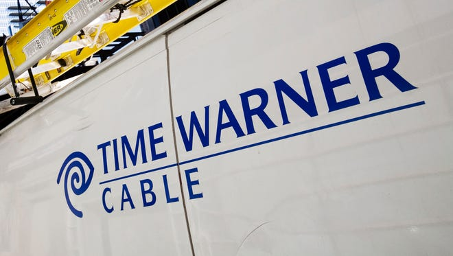 A Time Warner Cable truck.