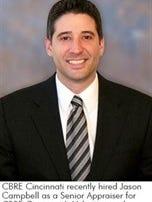 Jason Campbell joins CBRE as a senior appraiser.