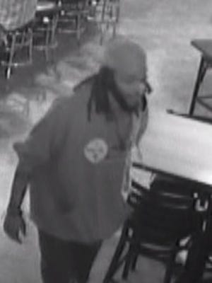 A suspect in a shooting in Smyrna Thursday morning is shown in this still from a security camera.