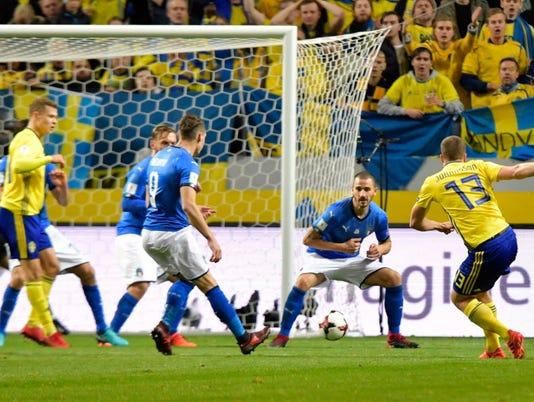 EPA SWEDEN SOCCER FIFA WORLD CUP 2018 QUALIFICATION SPO SOCCER SWE