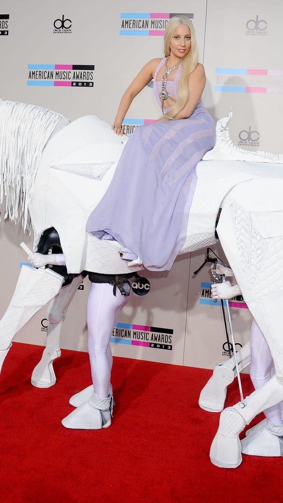Lady Gaga on horse