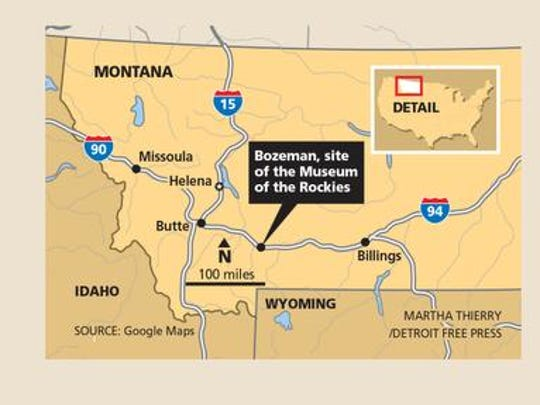 Bozeman, Mont. is the site of the Museum of the Rockies.