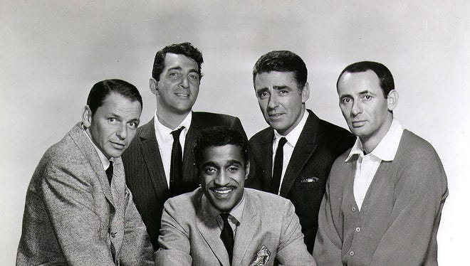 The Rat Pack that made three movies in the early 1960s and performed at the Sands Hotel in Las Vegas included (from left) Frank Sinatra, Dean Martin, Sammy Davis Jr., Peter Lawford and Joey Bishop.