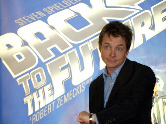 Michael J. Fox at the launch party of the 'Back to the Future' DVD release held at Universal Studios on December 16, 2002.