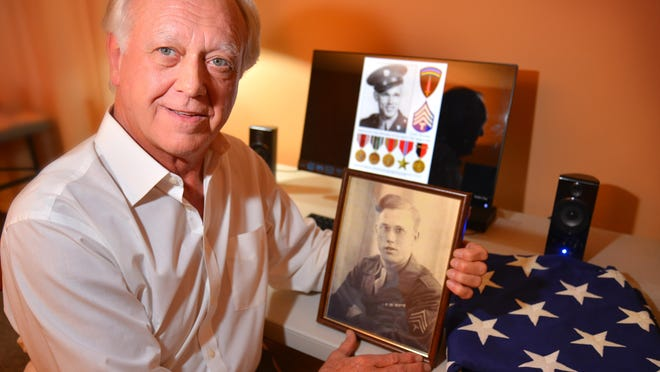 Vietnam vet Bob Kimple has meticulously put together an album of his father's, Sgt. Donald Kimple, containing letters, photos and memorabilia from his Army service during WWII as personal secretary to the adjutant general. The album is being donated and archived by the National WWII Museum in New Orleans.