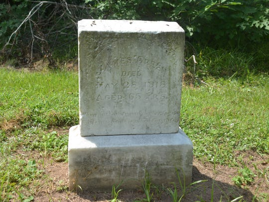 This headstone belongs to one of the first members of First Evening Star Baptist Church which is located on Bayou Rapides.