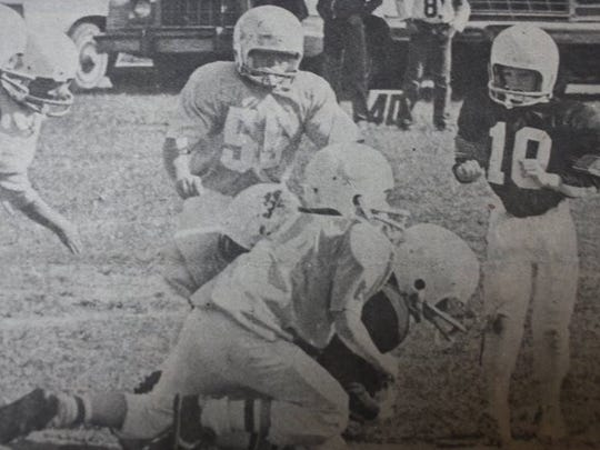 A group of 3rd & 4th graders sacked a Webster County running back in a Sturgis Cheifs game in 1983.