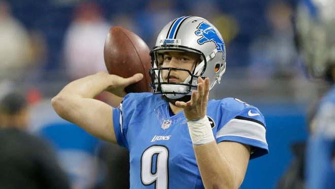 Detroit Lions quarterback Matthew Stafford.