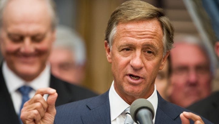 Gov. Bill Haslam speaks at the state Capitol on Jan.
