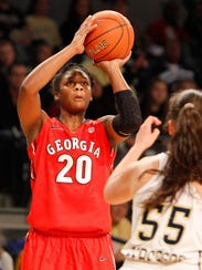Georgia's Shacobia Barbee (20) was drafted by the New