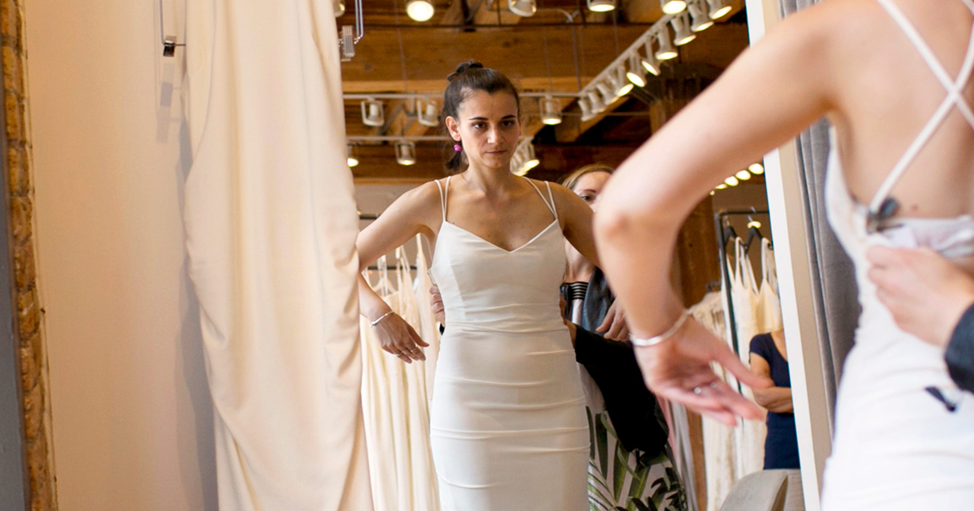 Wedding dress shopping not as easy as you think