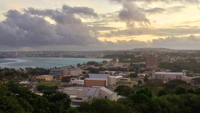 Sunrise view from Fort Apugan, Agana Heights, on Jan. 23, 2017. A stay on Guam won't be complete without catching the sunrise.