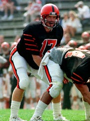 It all started in Jersey: Jason Garrett plays quarterback for Princeton University.
