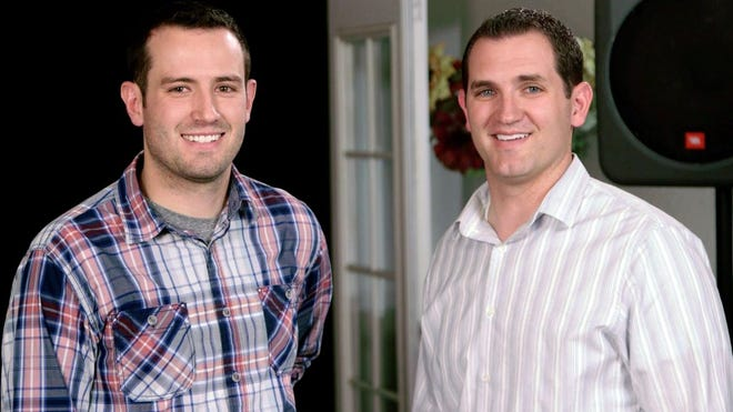 Mesa brothers Sean (left) and Tim Holladay (right) launched Crowd Mics, an app which turns smartphones into wireless microphones for use at live events and meetings.