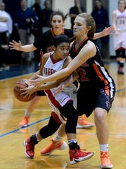 Katie Fabbri of Central York, right, is seen here in
