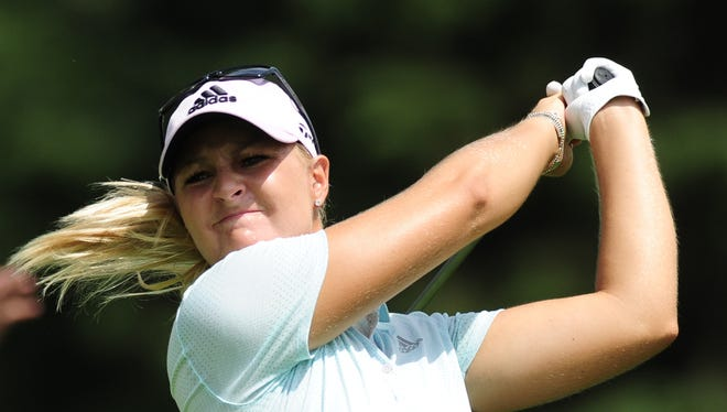 Anna Nordqvist, shown teeing off at last year's U.S. Women's Open, is the defending champion at the ShopRite LPGA Classic in Galloway.