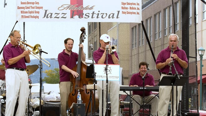 The Nickel City Clippers perform during the 2010 Michelob Twin Tiers Jazz Festival at Wisner Park in Elmira.