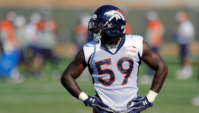 Broncos LB Danny Trevathan is entering his third NFL season.