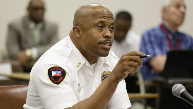 Lafayette Deputy Police Chief Reggie Thomas said he will test and apply for the position of Lafayette Chief of Police.