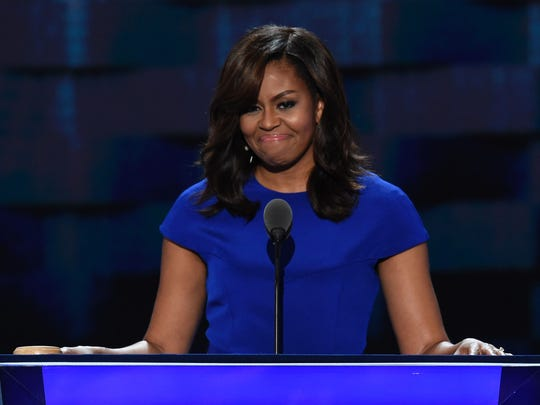 US First Lady Michelle Obama speaks during Day 1 of the Democratic National Convention at the Wells Fargo Center in Philadelphia, Pennsylvania, July 25, 2016.