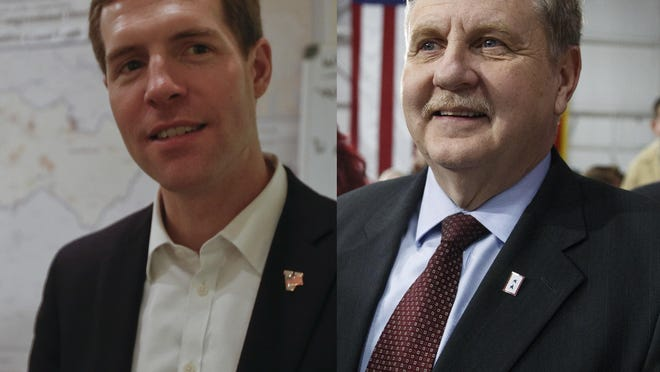 Democrat Conor Lamb, left, and Republic Rick Saccone faced each other in a special election Tuesday for Pennsylvania's 18th Congressional District.