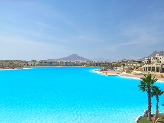 At 99 acres with almost 14 miles of white sand beaches, this Crystal Lagoon for the CityStars complex in Sharm El Sheikh, Egypt is the company's second world record setter. The first was the original Crystal Lagoon at San Alfonso del Mar, Chile, in 2007.