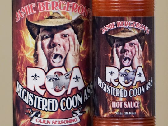 "Jamie Bergeron has promoted his seasoning products under the name, ""Registered Coon Ass."""