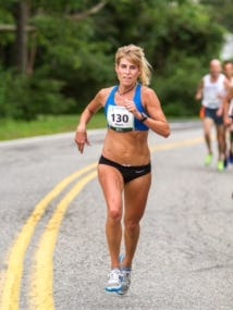 Sheri Piers, shown here at the Beach to Beacon 10K road race in 2013, will be competing in the Naples Daily News Half Marathon on Sunday, Jan. 15, 2016.
