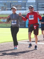 One of Marlyn Hahn's favorite running partners is his