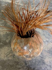 This hollow sphere was made by Tom Ehlers, owner of