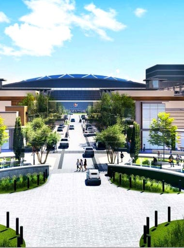 This rendering if of The Star, a sports complex in Frisco, Texas after which The Shield in Thousand Palms will be patterned.