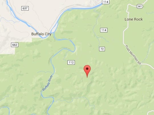 Approximate rural location where Louisiana man fell