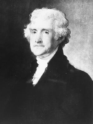 Portrait of the 3rd U.S. President Thomas Jefferson. (1743-1826) (Courtesy of the National Archives/Newsmakers)