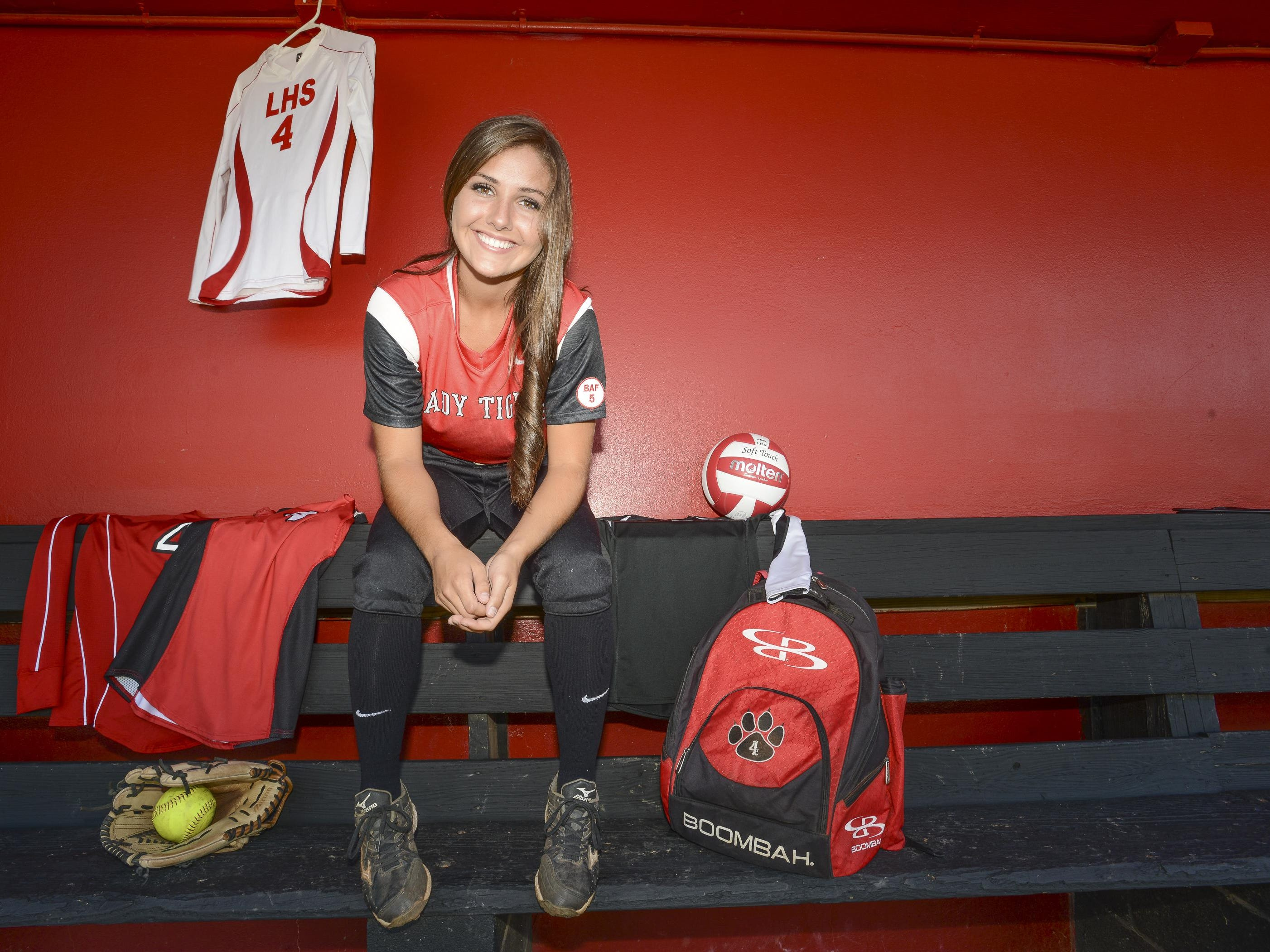 Brooklyn Hays played softball and volleyball this year for Lexington.