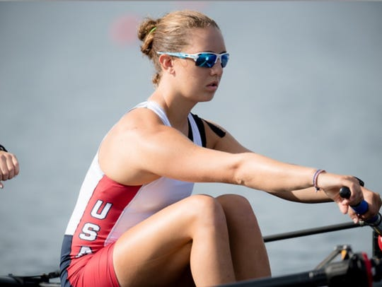 Newark's Rose Carr rows to a bronze medal at the world