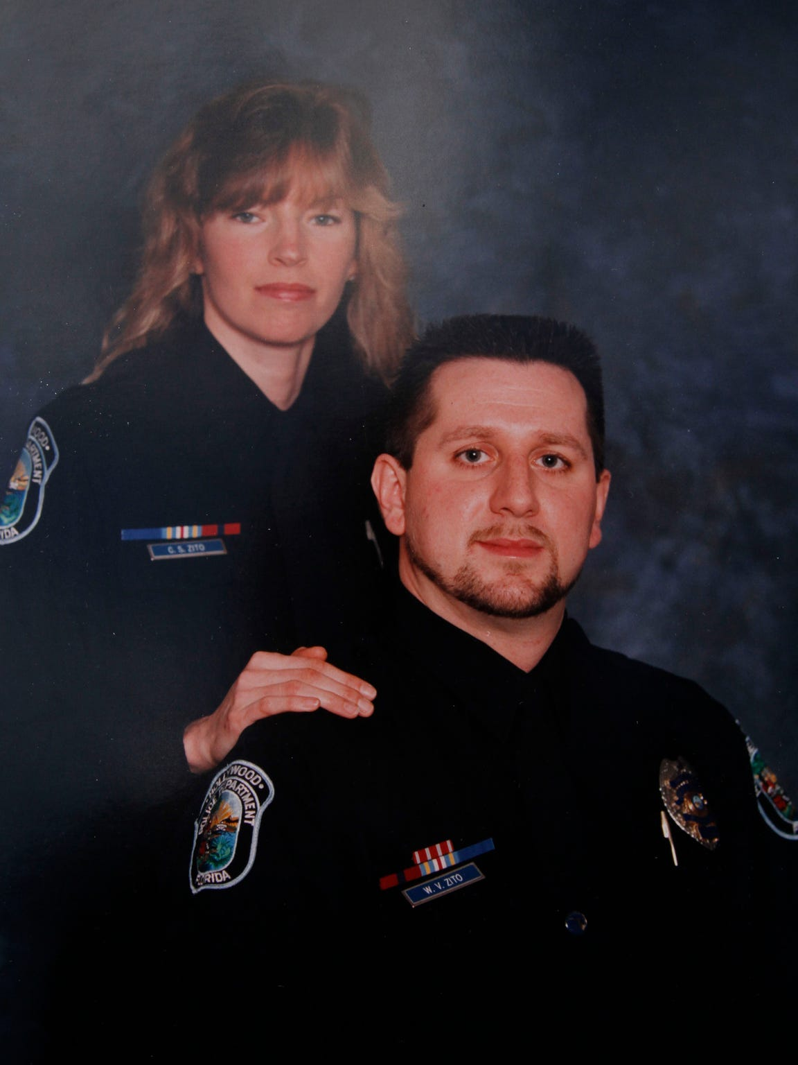 Bill Zito and Carol Stiers Zito met on the police force