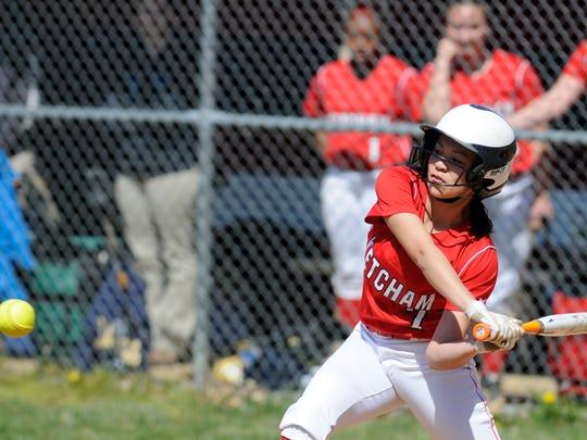 Ketcham's Isabella Tullo at bat during Saturday's home