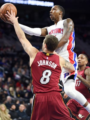 Pistons' Kentavious Caldwell-Pope has missed the past four games with a shoulder injury.