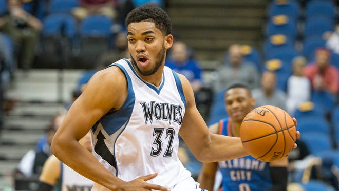 Minnesota Timberwolves' Karl-Anthony Towns was the No. 1 pick in the NBA draft.