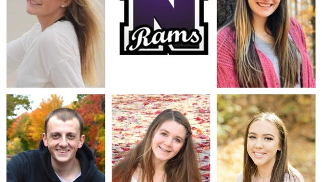 Nute High School's Top 5 students for the Class of 2020 are, from left, top, Arianna Galarneau, Alyssa Perko; bottom, Gavin Horton, Rebekka Bloser and Molly Welch.