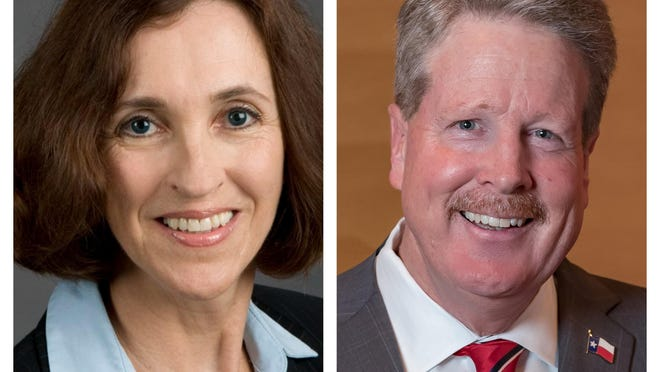 Rebecca Bell-Metereau, left, a Democrat vying for the district 5 seat on the State Board of Education, won her race while Tom Maynard, right, the Republican incumbent in district 10, beat his opponent.