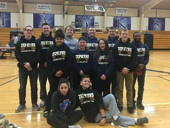 The St. Mary Catholic High School Powerlifting team