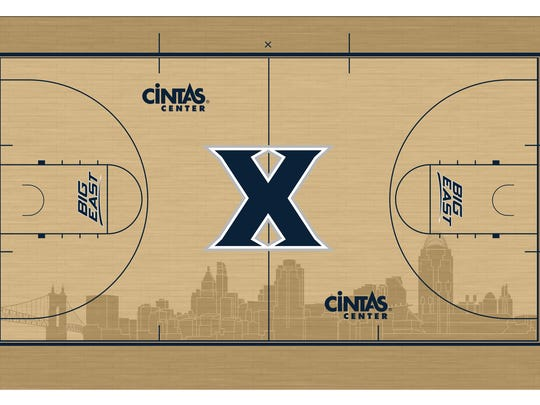 An early design of Xavier's court.