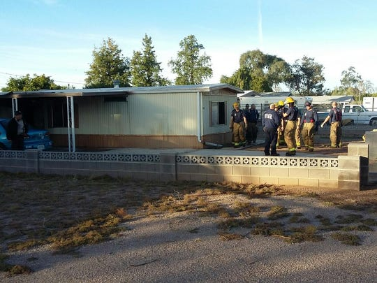 A man was found dead after a mobile-home fire near