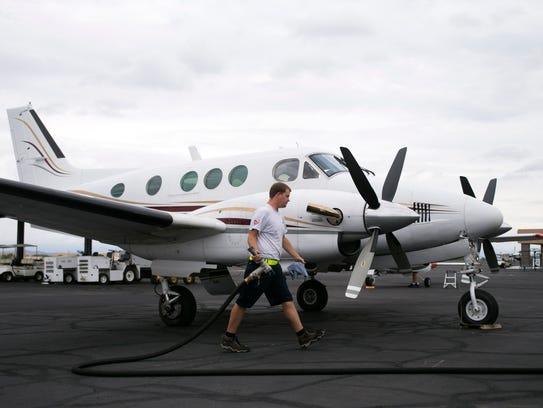 Falcon Field prop plane