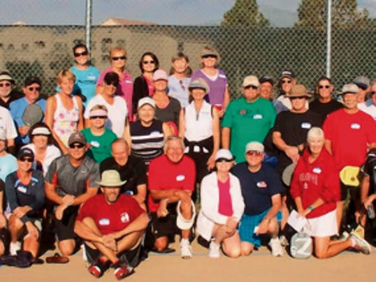 Courtesy Leanne Smith - For the Ruidoso News   More than 150 people come to Ruidoso to play pickleball each summer.