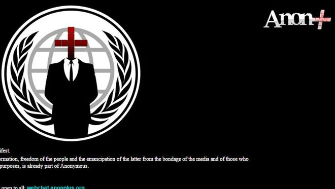 York County's website was taken over a group calling itself AnonPlus on Friday.