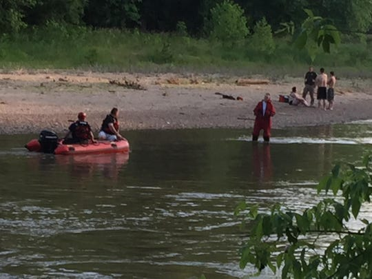 The scene on Wildcat Creek after each of the girls