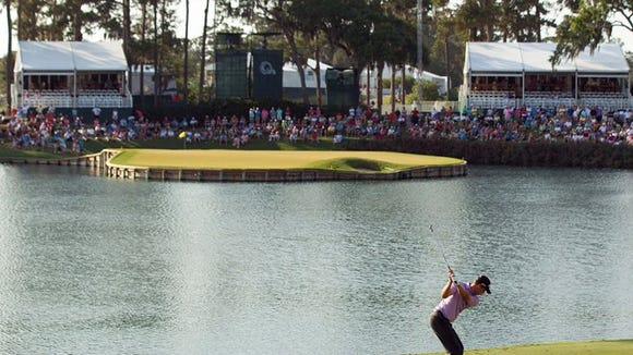 See the devastating aftereffects of Hurricane Irma on TPC Sawgrass' iconic 17th hole